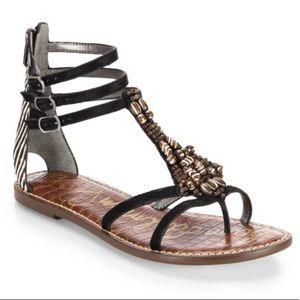 Sam Edelman Giada Beaded & Calf hair Sandals - 7.5